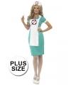 Verpleegster verkleedkleding big size
